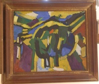 composition abstraite by jacques mennessons