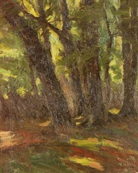 forest interior by carl henry von ahrens