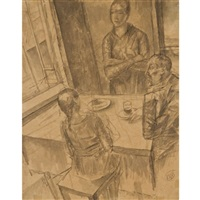 the artist's family by kuz'ma sergeevich petrov-vodkin