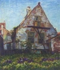het gestutte oude huis: the old house by hendrik van bloem