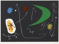 pl.13 from 'le lezard aux plumes d'or' by joan miró