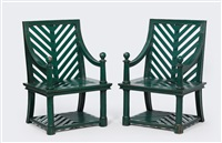 outdoor chairs (pair) by emilio terry