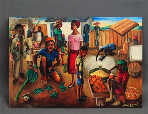 market scene by wilson bigaud