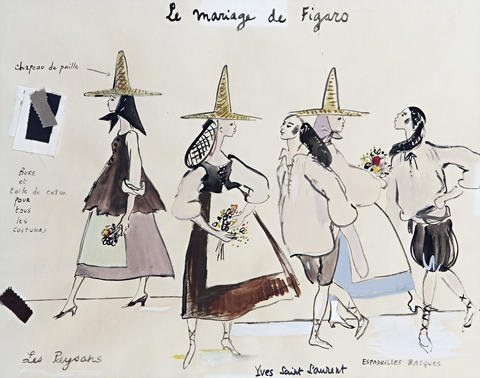 Costume designs for Le Mariage de Figaro par Yves Saint