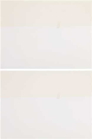 provincetown late afternoon 1 light green and provincetown late afternoon 2 beige 2 works by alex katz
