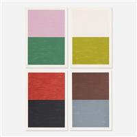 berliner serie (portfolio of 4) by günther förg