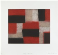 wall of light crimson by sean scully