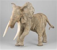 lui-même, lui-même (eléphant) by françois van den berghe