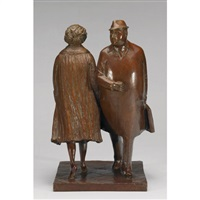 business woman and man by william hodd mcelcheran