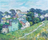 landscape with houses, cape cod by pauline palmer