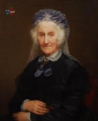 portrait armorié d'une dame de qualité by nicaise de keyser