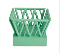 an italian modern green-glazed earthenware sculpture (from the antichi series) by ettore sottsass