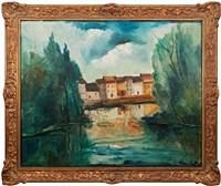 a french scenery by maurice de vlaminck