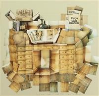 the desk by david hockney
