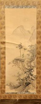 chinese warriors choryo and kome (pair) by gaho hashimoto