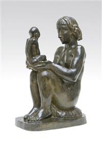 mère et enfant by karel aubroeck