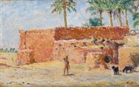 jeune garçon à l'oasis by alphonse etienne dinet