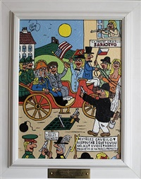 archduke ferdinand and j.f. kennedy on ride in sarajevo by frantisek ringo cech
