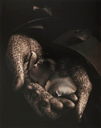 flower sellers hands, april by albert watson
