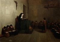 a convent classroom by théophile emmanuel duverger