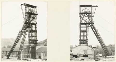 winding tower (diptych) by bernd and hilla becher