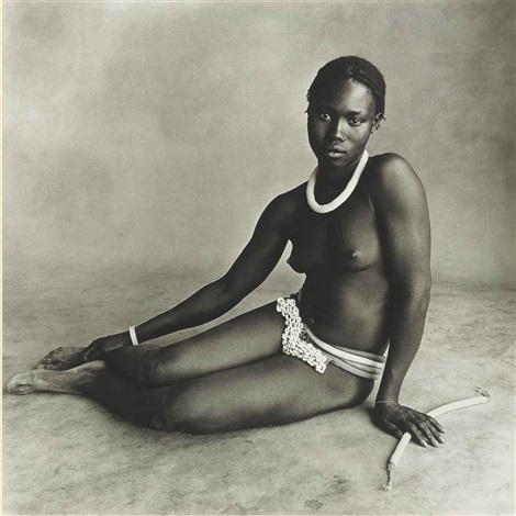 sitting girl cameroon by irving penn