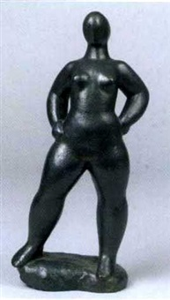 stehender weiblicher akt by gottfried buchberger