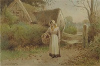 the primrose gatherers (+ off to market; pair) by joshua fisher