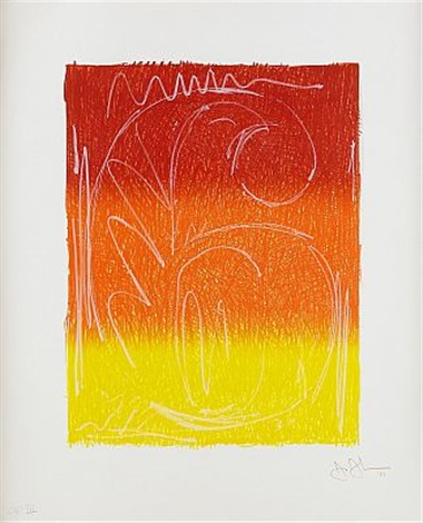 color numerals figure 6 by jasper johns