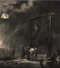 an execution at a gallows by robert van den hoecke
