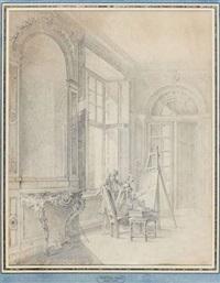 la leçon de peinture by jacques-andré portail