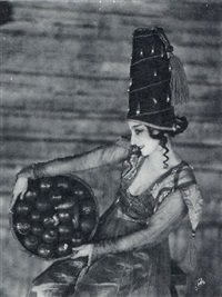 dancer with bowl of apples by james abbe
