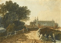 eton, from the slough road by joseph mallord william turner