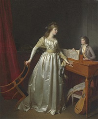 a lady at the clavichord by jean-simon fournier
