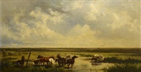 pferde in der pußta by johann gualbert raffalt