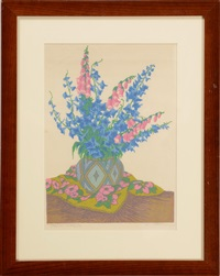rittersporn und fingerhut (larkspur and foxglove) by carl theodor thiemann