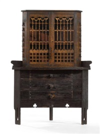 corner china cabinet by charles rohlfs