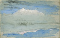view of the old man at coniston, as seen from brantwood house by john ruskin