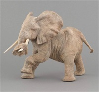 éléphant jouant, (sculpture en) by françois van den berghe