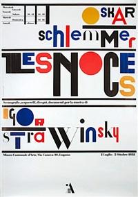 oskar schlemer (poster) by bruno monguzzi