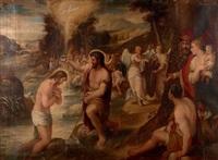 le baptême du christ by lambert sustris