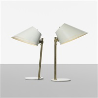 table lamps model 9227, pair by paavo tynell