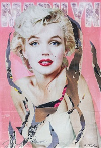 pink marilyn by mimmo rotella
