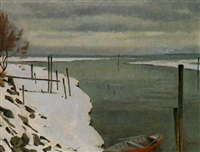 winter am bodensee by adolf holzmann