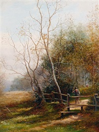the edge of the wood, sutton park by john bates noel