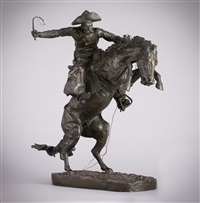 the broncho buster #39 by frederic remington