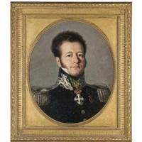 portrait of a gentleman, bust length, in military uniform by italian school-piedmont (19)