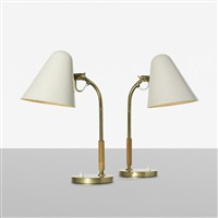 table lamps, pair by paavo tynell