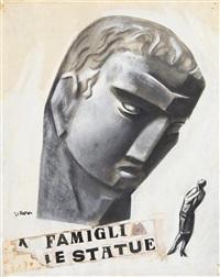 illustrazione della novella 'la famiglia delle statue' by mario sironi
