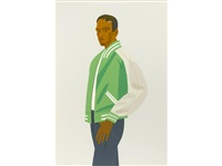 the green jacket (from alex and ada suite) by alex katz